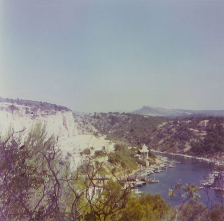 panorama from the road from the youth hostal to Cassis