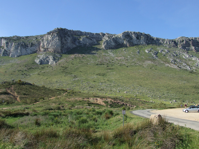 Parking for visitors of El Torcal.